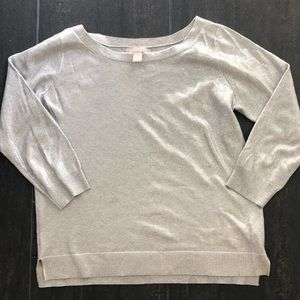 Super cute Silver Shimmery Sweater